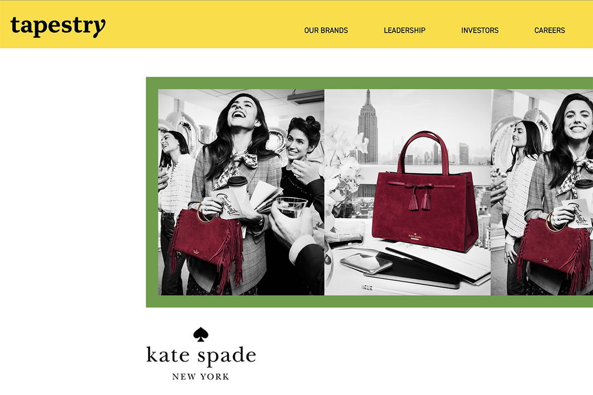 Kate Spade 品牌手袋热销,助力 Tapestry 集团上季度销售额同比增长7%