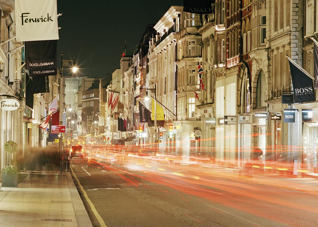 英国伦敦邦德街改造工程正式完成:中国游客是最大的购物群体