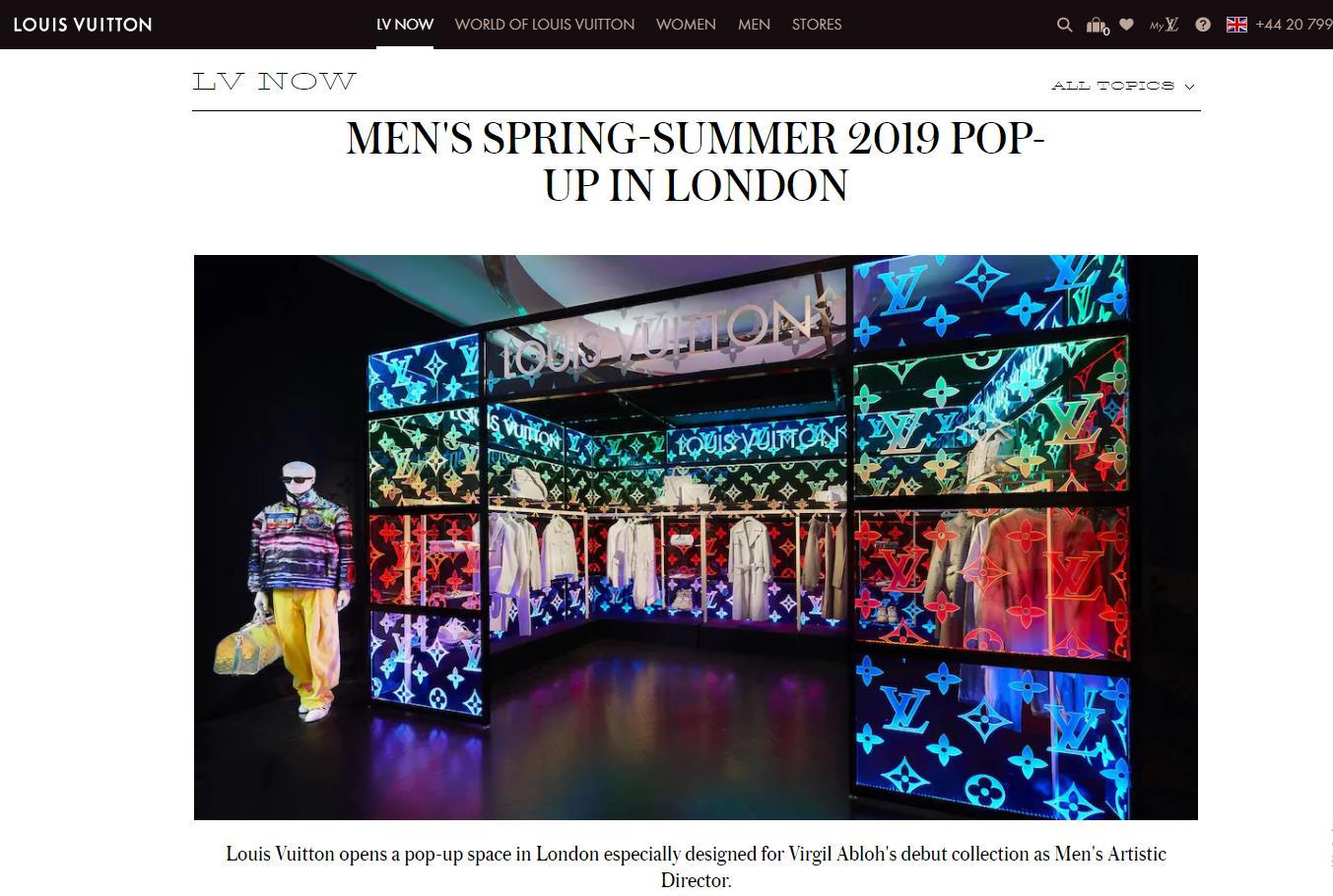 Louis Vuitton 新任男装创意总监 Virgil Abloh在伦敦和上海开设快闪店,发布上任以来首个男装系列