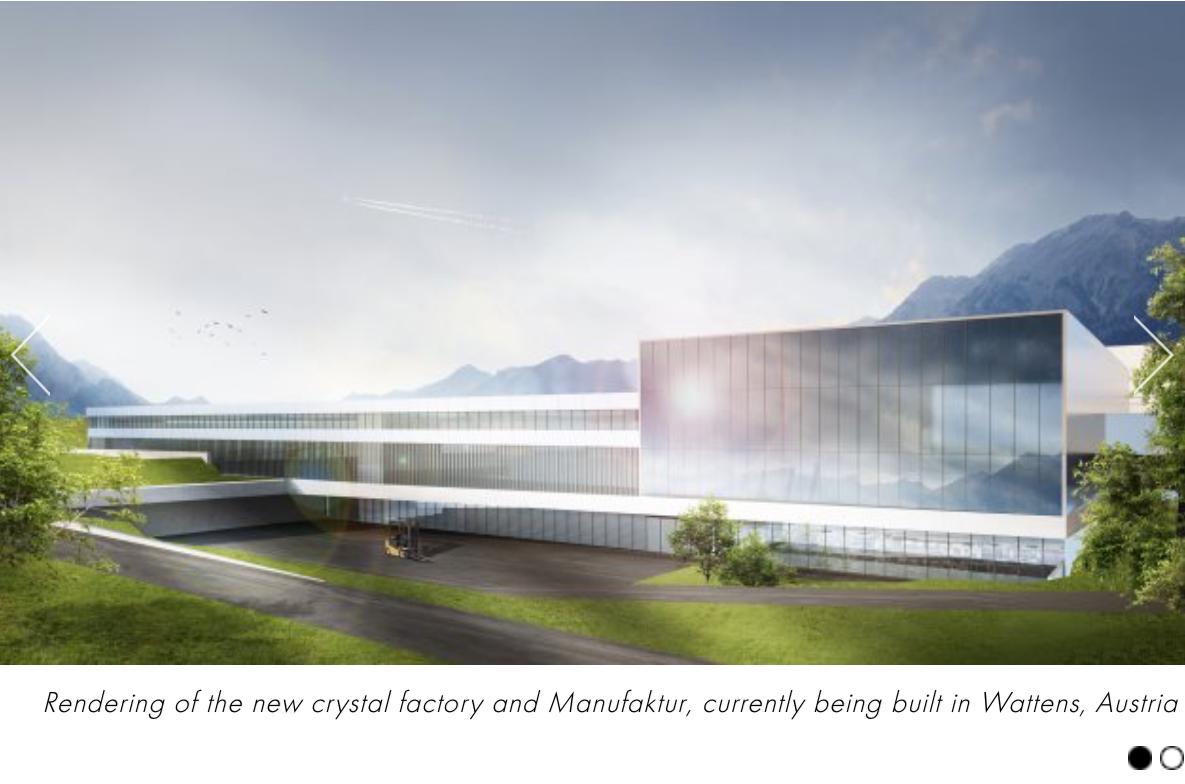 施华洛世奇对外开放位于阿尔卑斯山脉的水晶生产工厂 Manufaktur