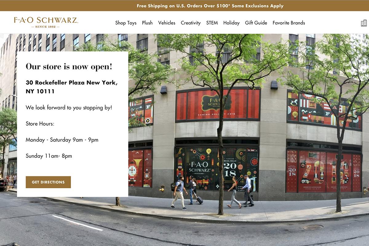 阔别三年,美国百年玩具零售商 FAO Schwarz 重返纽约开店