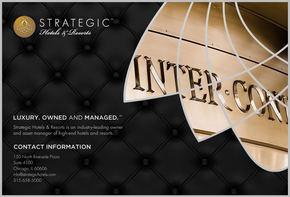 安邦集团聘请美国银行帮助其出售旗下高档酒店不动产公司 Strategic Hotels