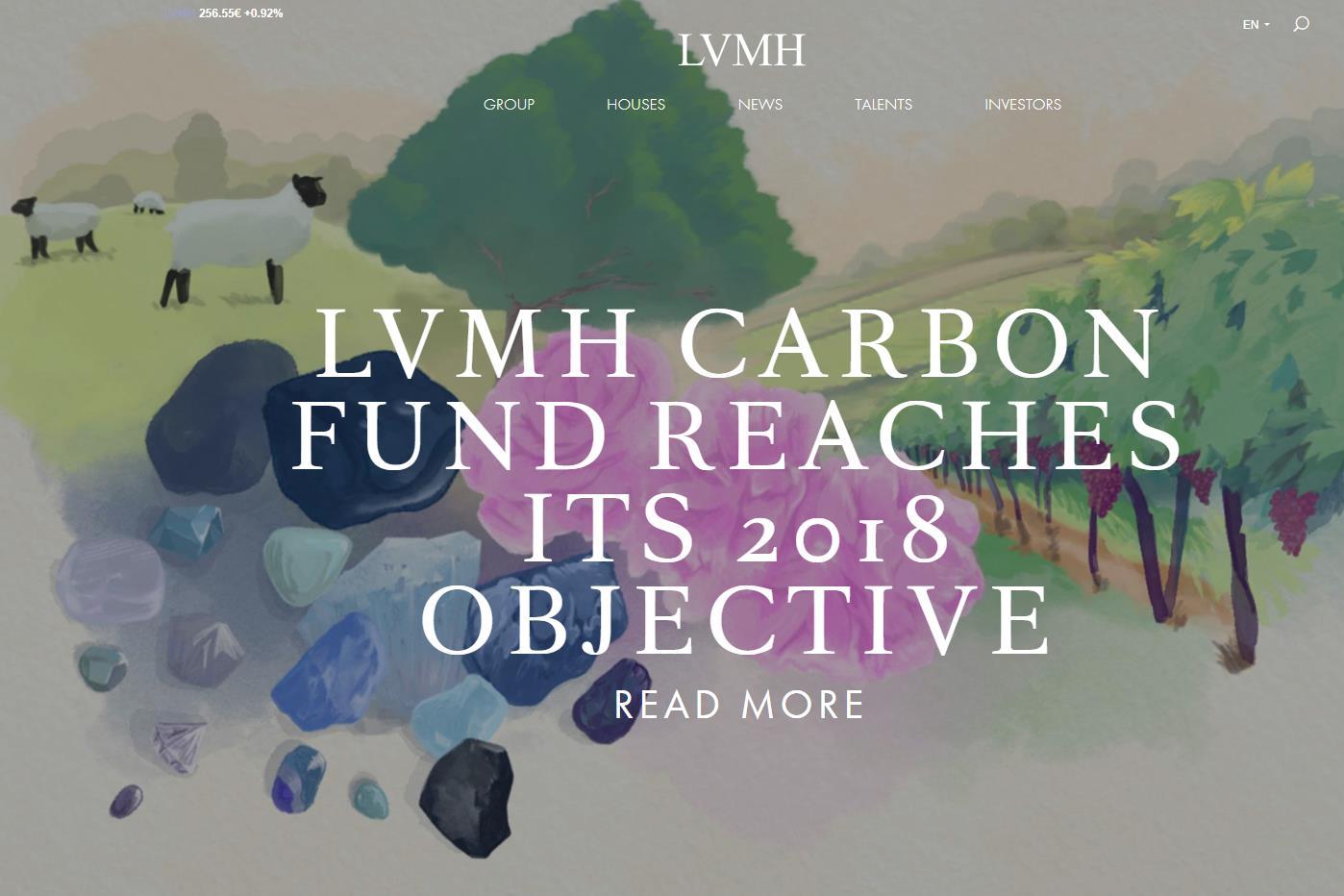 LVMH 集团宣布达成2018年碳排放基金目标,环保项目增至112个