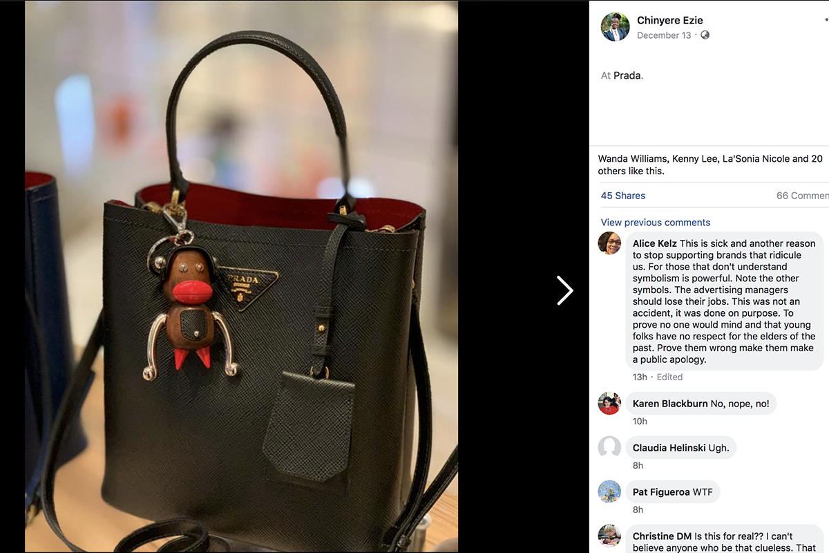 """遭""""种族歧视""""指责,Prada下架所有""""大红嘴唇""""猴子造型的相关产品"""