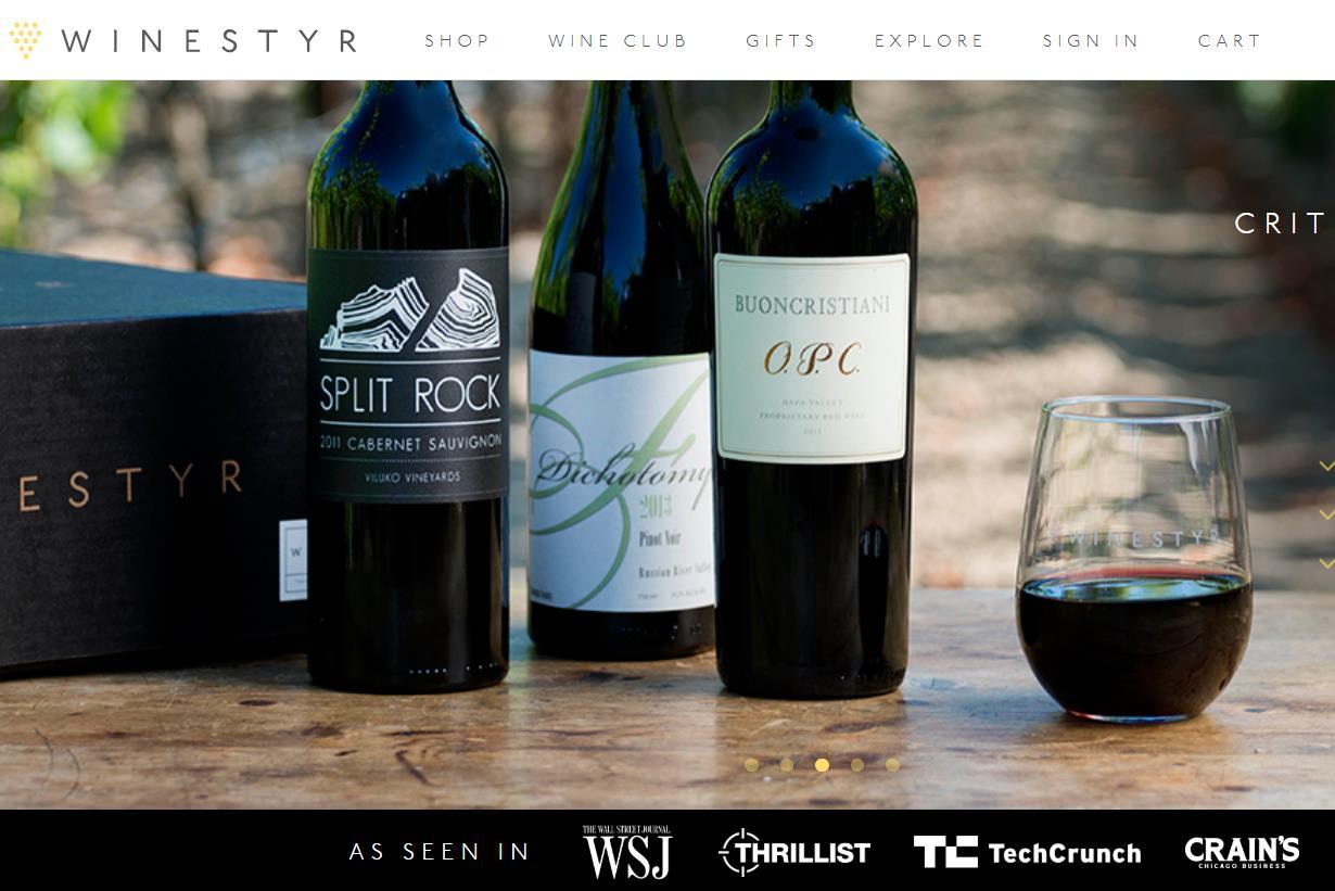 美国创新葡萄酒直销公司 Winestyr 完成300万美元融资,将在全美开设展示门店