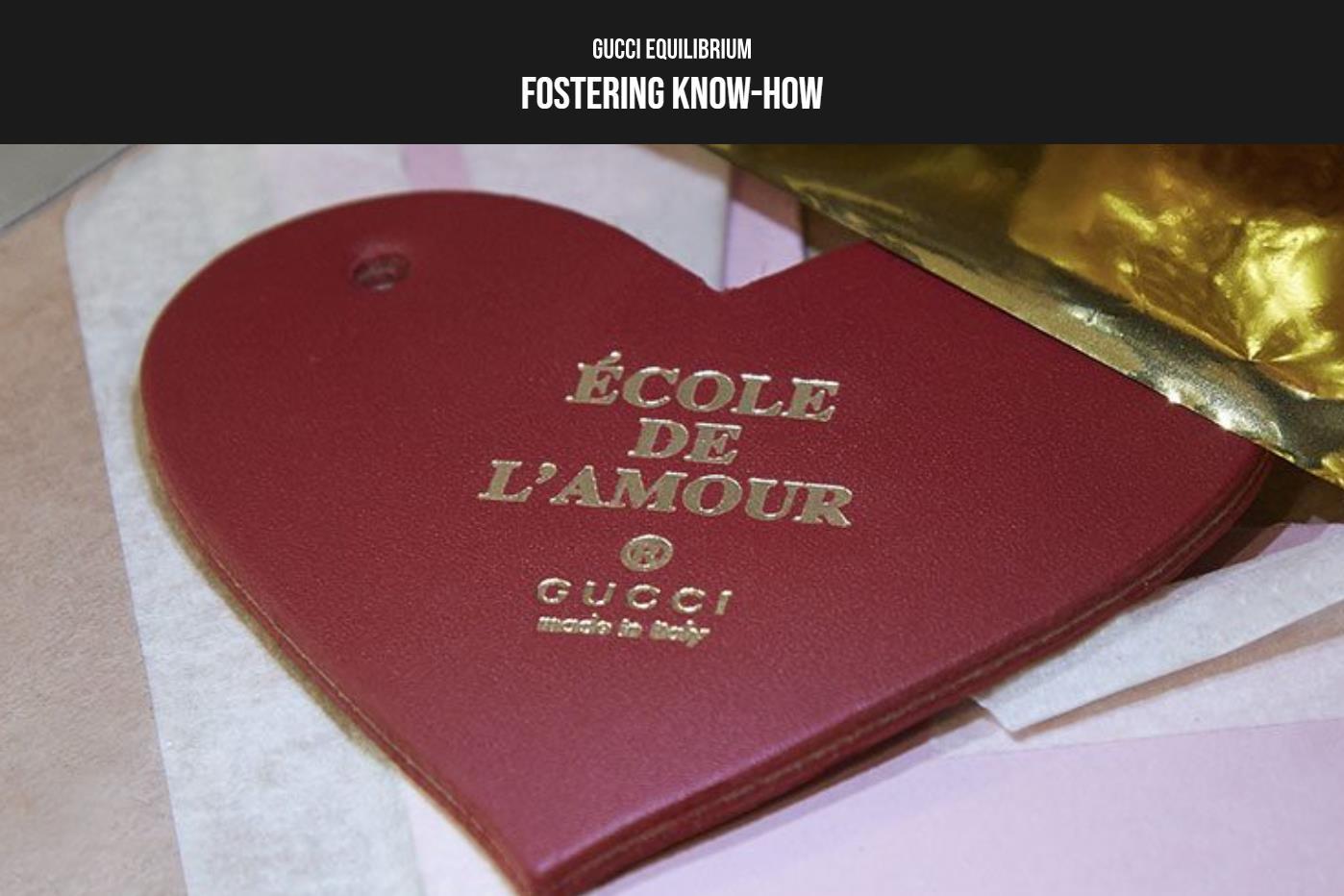 传承手工艺,Gucci 在意大利开设创新教育项目École de l'Amour