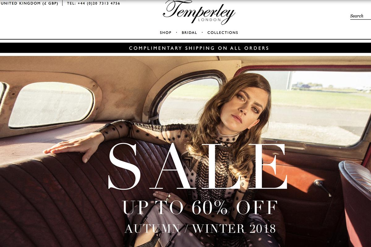 伦敦设计师品牌 Temperley London 公布 2017年财务数据:销售额同比增长4%,但亏损进一步扩大