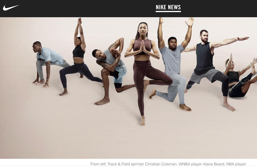 "Nike 正式发力""瑜伽"",推出首个专业瑜伽运动系列 Nike Yoga Collection"