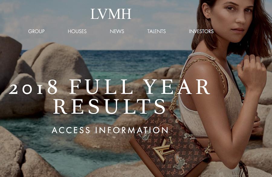 LVMH集团2018财年营业利润达 100亿欧元,第四季度中国市场强劲表现缓解行业担忧