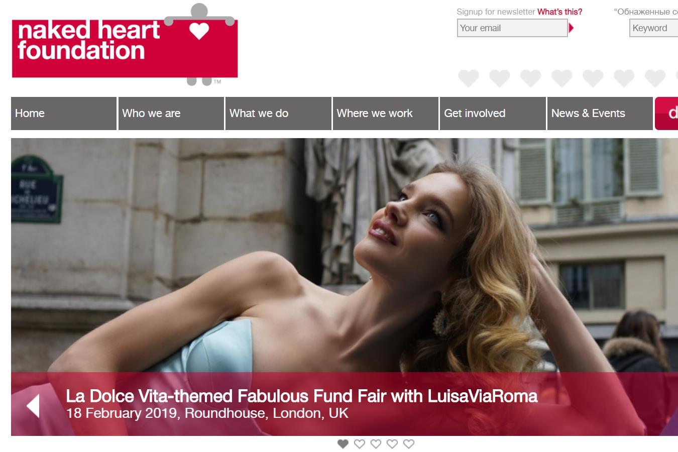 俄罗斯超模 Natalia Vodianova 创建的慈善基金会将携手意大利奢侈品电商 LuisaViaRoma 举办慈善晚会