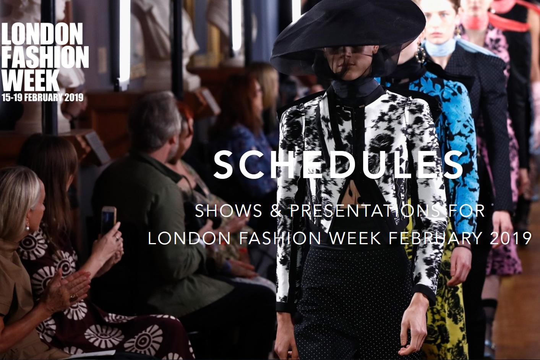 2019年2月伦敦时装周发布官方日程:六位华人设计师参与