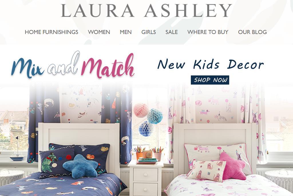 英国家居时尚品牌 Laura Ashley 将把中国市场作为发展重点,通过线上平台增加品牌影响力