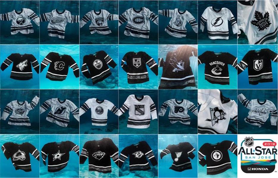 adidas 联手海洋公益组织 Parley 为美国职业冰球联盟(NHL)研发首款生态型球衣