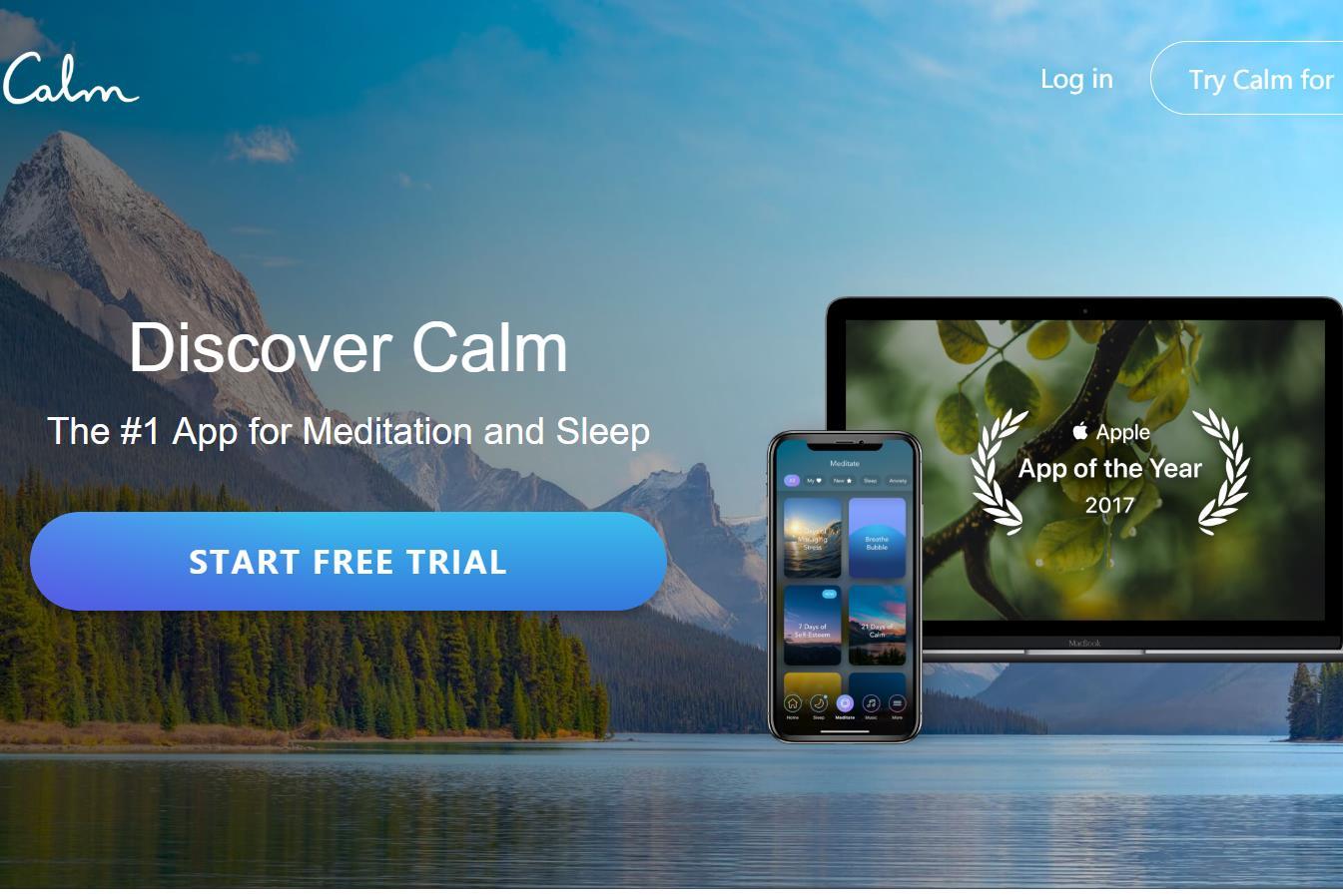 冥想助眠软件 Calm 完成8800万美元B轮融资,公司估值已达10亿美元
