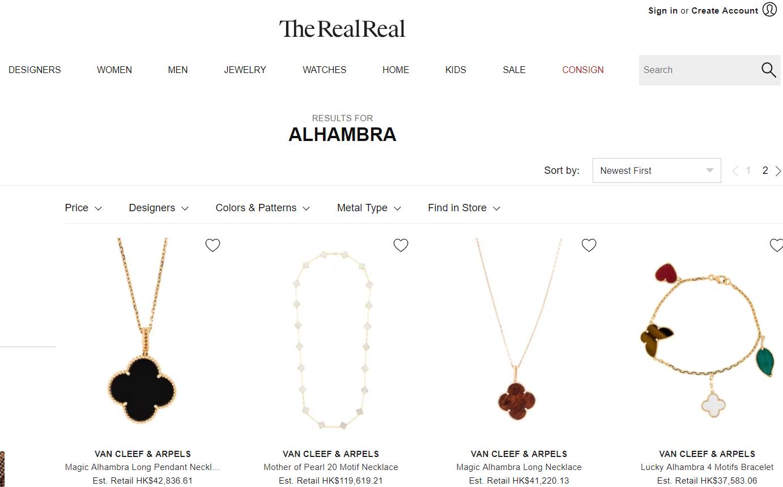 美国二手奢侈品平台 The RealReal 年度最受欢迎的珠宝和手表品牌:梵克雅宝、爱彼表