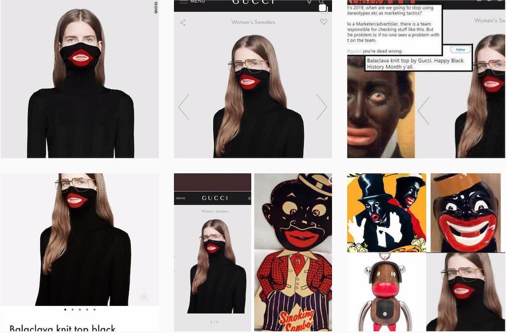 """Gucci 也""""踩雷""""了!被迫下架""""红嘴唇""""造型的黑色高领毛衣"""