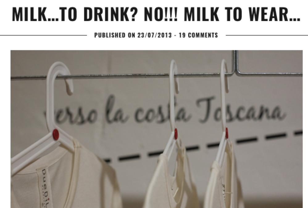过期牛奶不必倒掉了!意大利初创时装品牌 Duedilatte 研发出防过敏、更柔软的牛奶基纤维