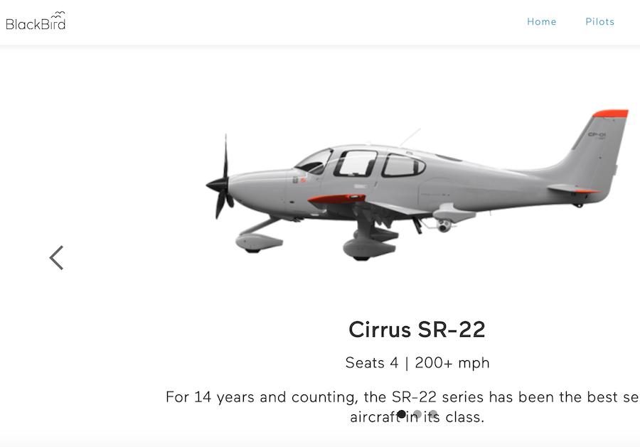 私人飞机共享服务初创公司 Blackbird 完成1000万美元A轮融资