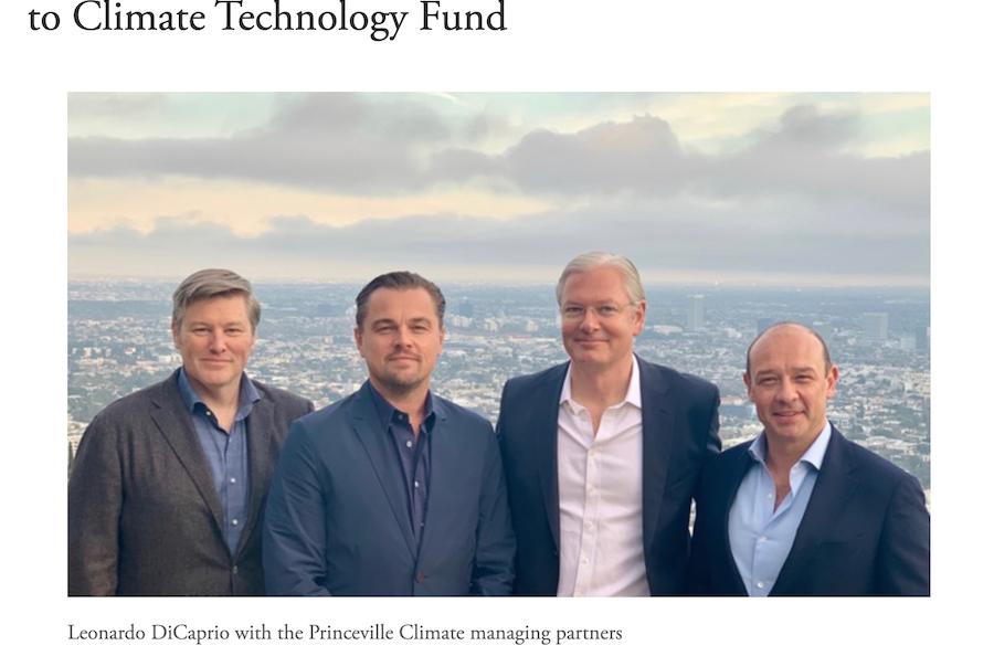 奥斯卡影帝迪卡普里奥加盟一家私募基金担任顾问,专注于应对气候变化的环保项目投资