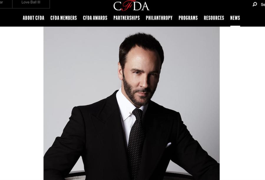 Tom Ford 当选美国时装设计师协会(CFDA)新任主席