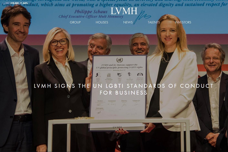 LVMH 集团签署联合国商业行为准则,承诺消除对 LGBTI 群体的歧视问题