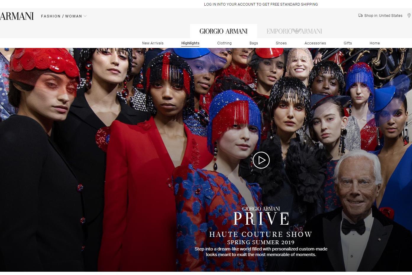 意大利奢侈品牌 Giorgio Armani 正式涉足高级珠宝领域