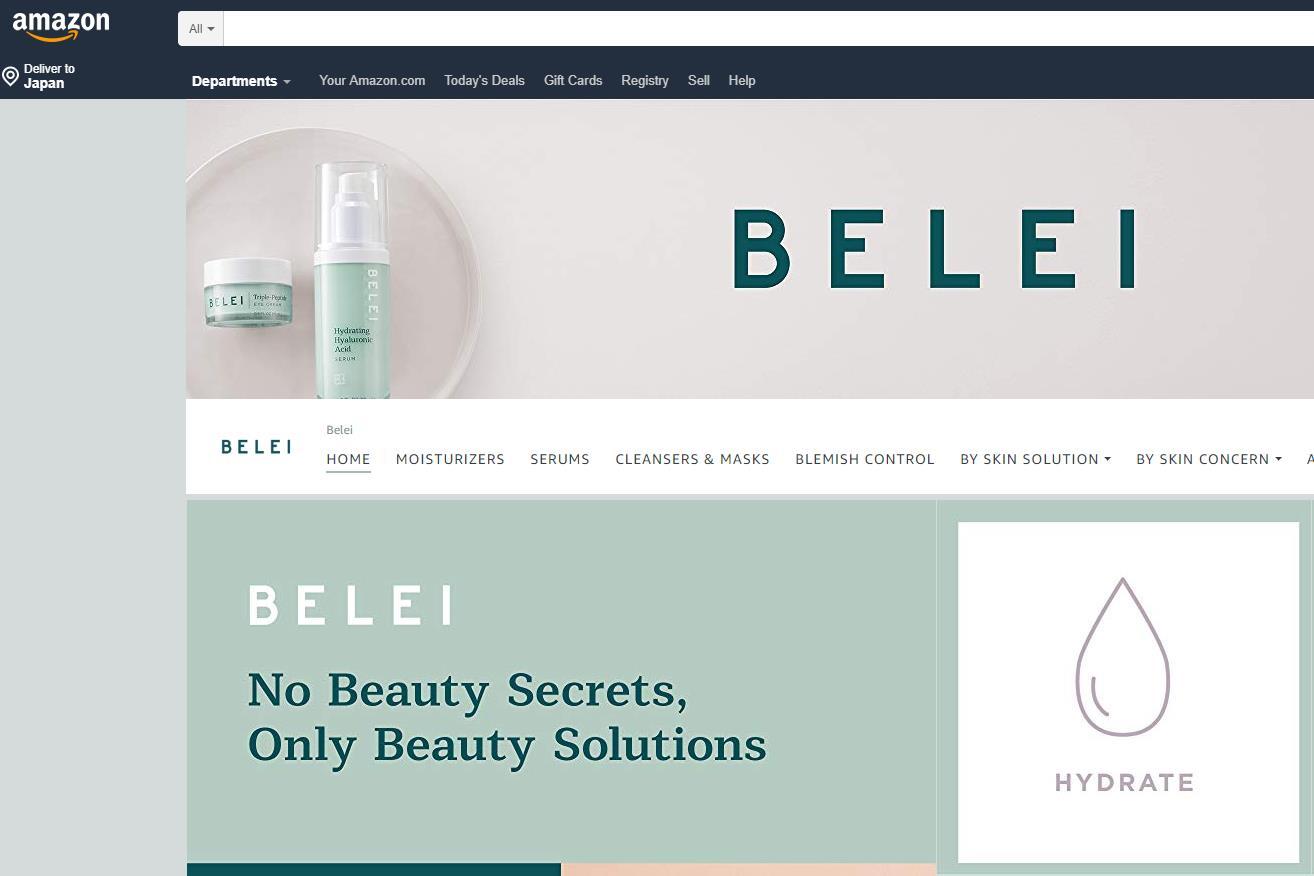 亚马逊推出首个专注于护肤产品的自有品牌 Belei