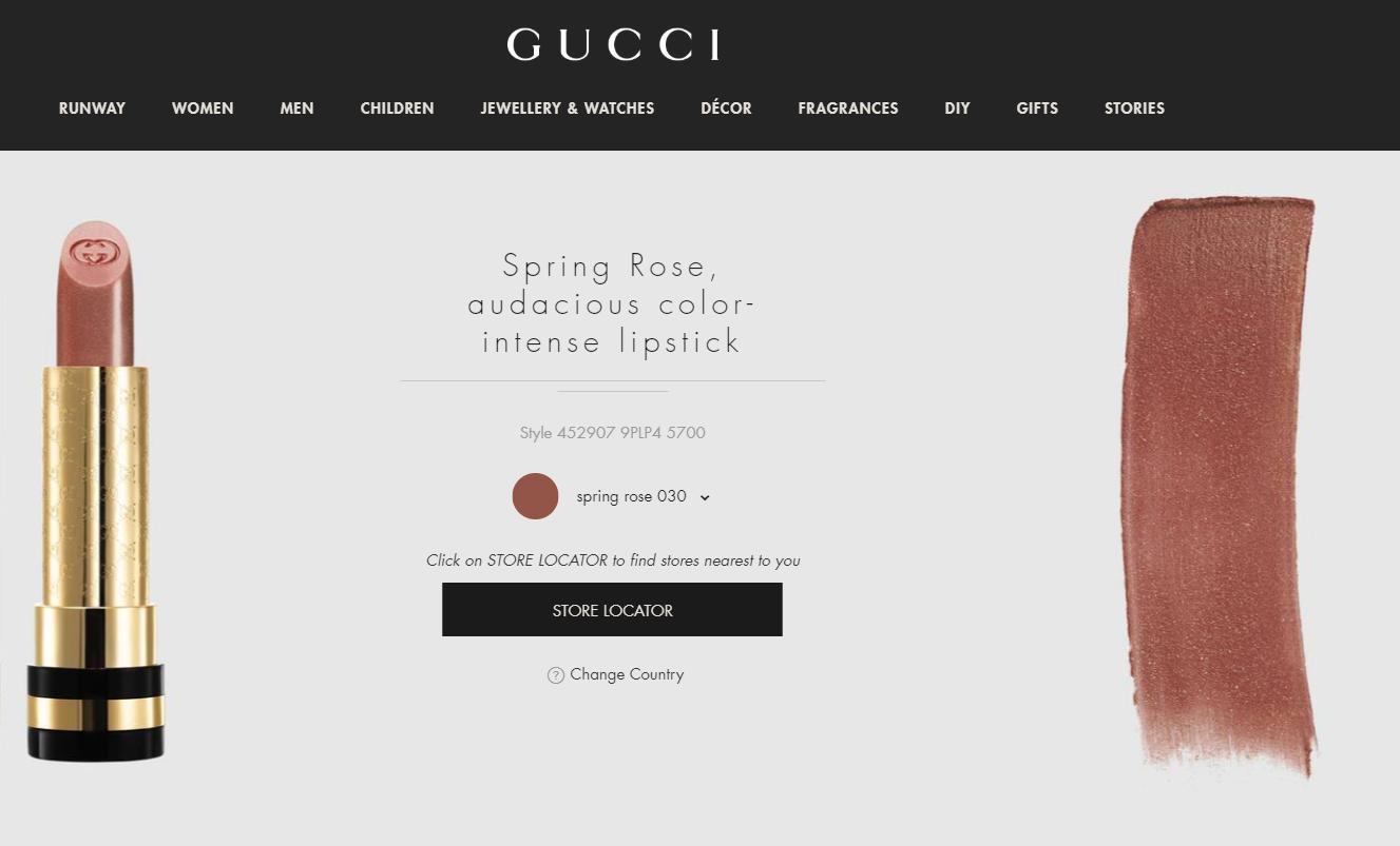 Gucci 正式推出全新美妆系列,创意总监 Alessandro Michele操刀设计的唇膏产品线率先亮相