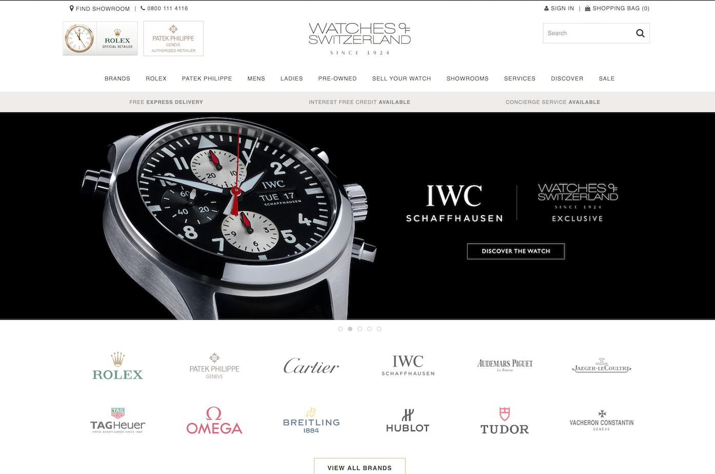 英国最大奢侈手表珠宝分销商 Watches of Switzerland 上市首日股价涨15%,市值6.47亿英镑