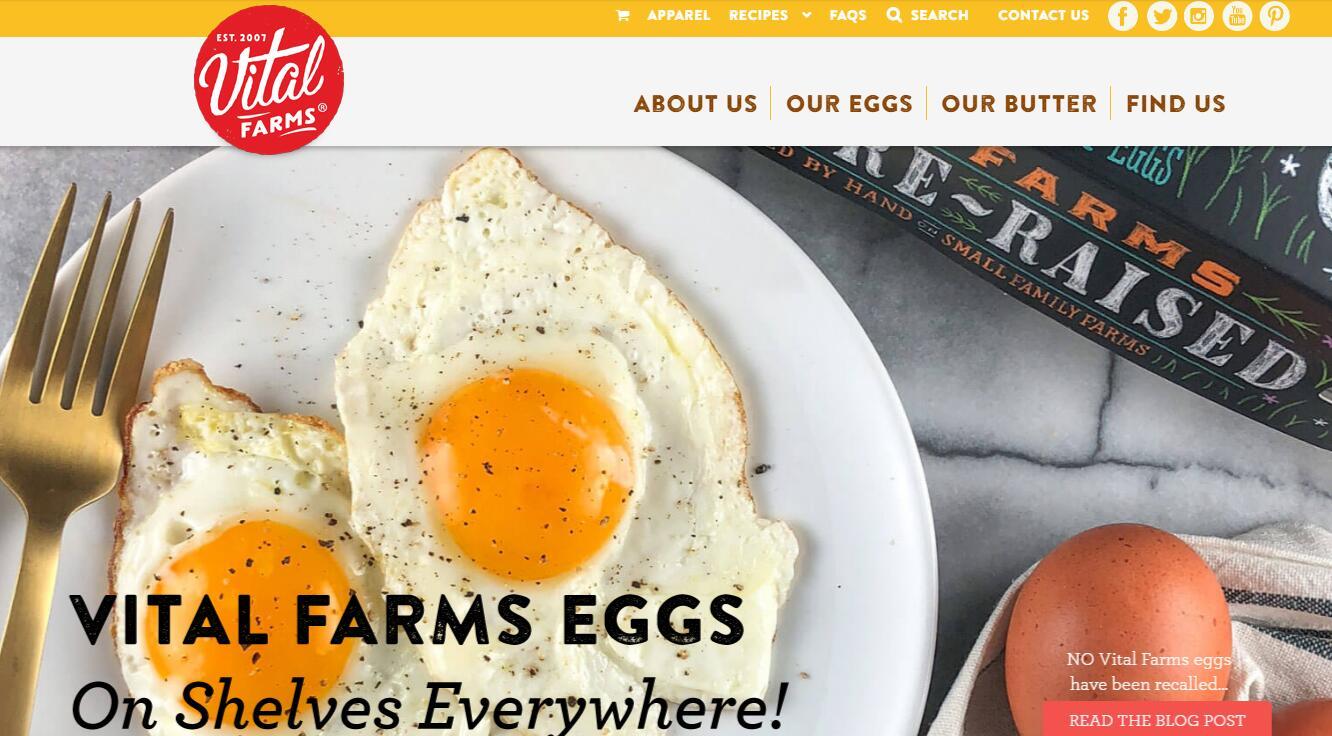 """美国""""道德""""农产品品牌 Vital Farms 获私募基金投资:让每只鸡都有10平米的户外活动空间"""