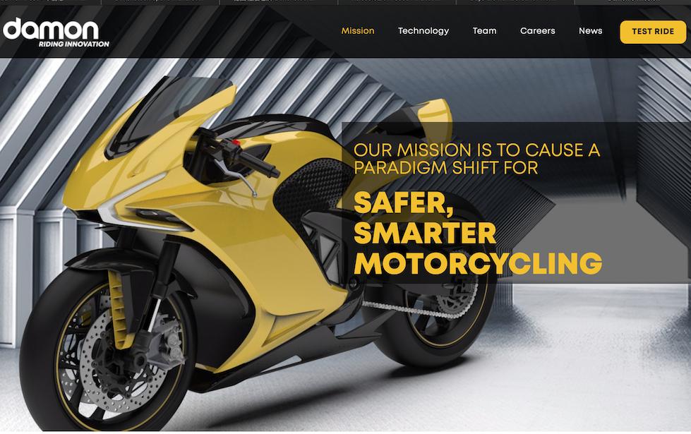 """Damon Motorcycles 完成250万美元种子轮融资,目标:让摩托车致命事故降为""""零""""!"""