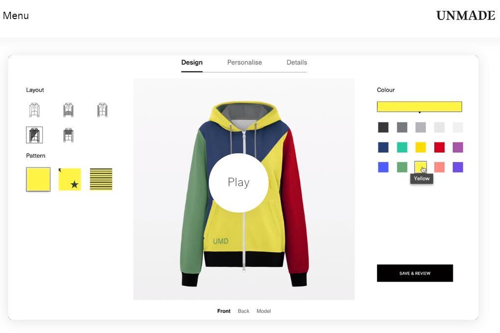 为品牌提供在线定制服务,英国时尚科技公司 Unmade 获得 475万英镑融资