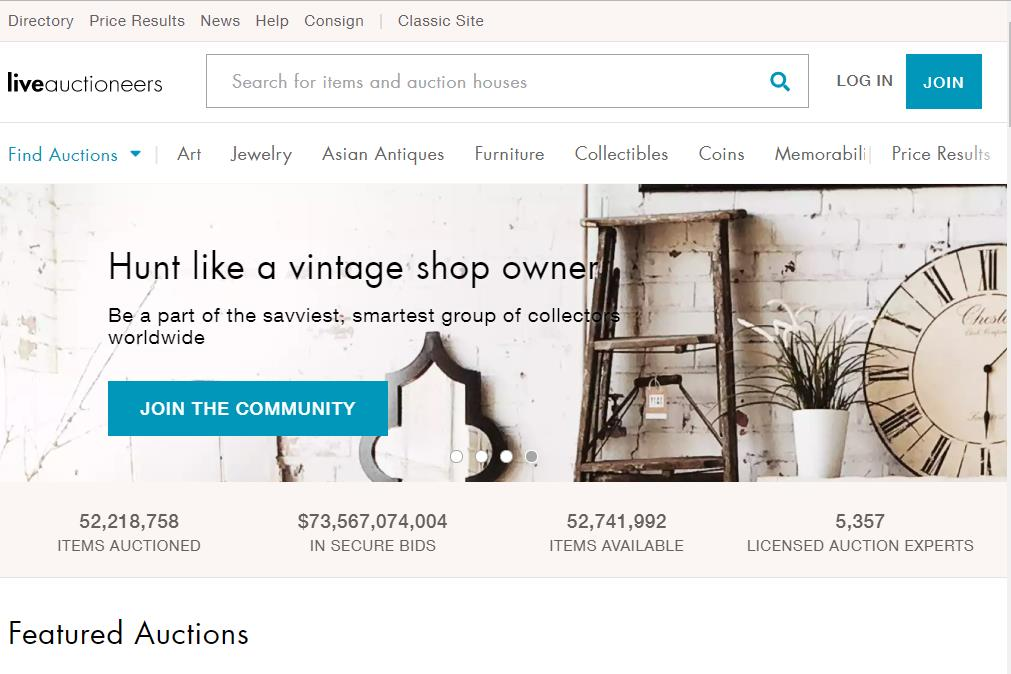 线上艺术品和古董拍卖平台 LiveAuctioneers 被私募基金收购,去年交易总额超 2亿美元