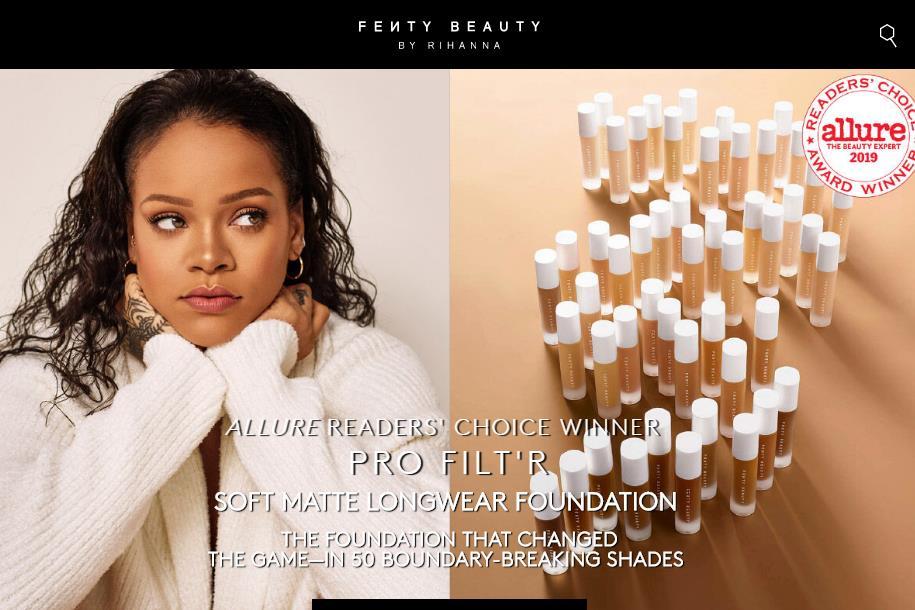 Rihanna 美妆系列 Fenty Beauty  拓展亚洲市场,首先落地中国的香港澳门和韩国两地