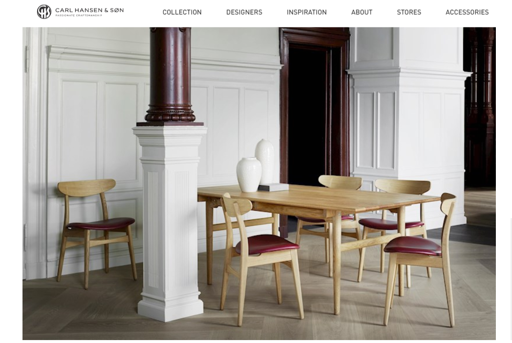 丹麦历史最悠久的家具制造商之一:Carl Hansen & Son Holding 2018年销售额8400万欧元,同比增长26.3%