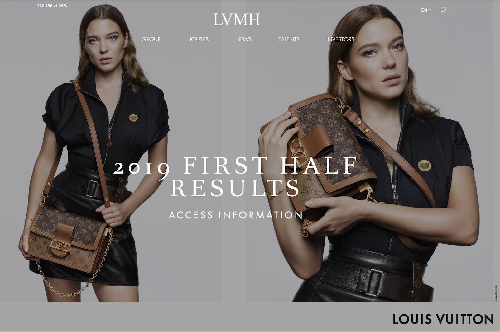 LVMH 集团发布2019上半财年数据: LV、Dior 强劲增长推动整体业绩超出预期