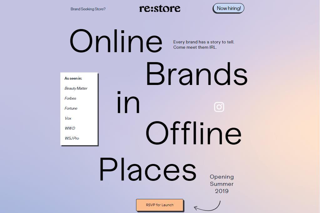 互联网直销品牌共享空间 Re:Store 在旧金山开设首家旗舰店