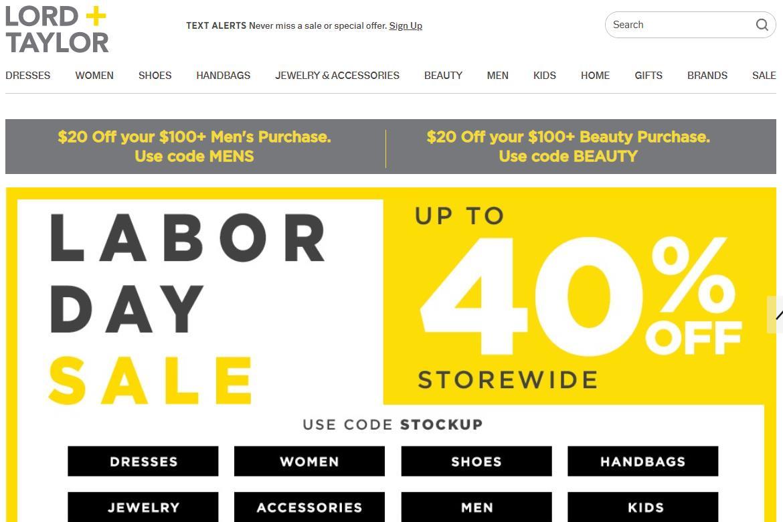 美国最古老的奢侈百货 Lord & Taylor 将被时尚租赁网站 Le Tote 收购