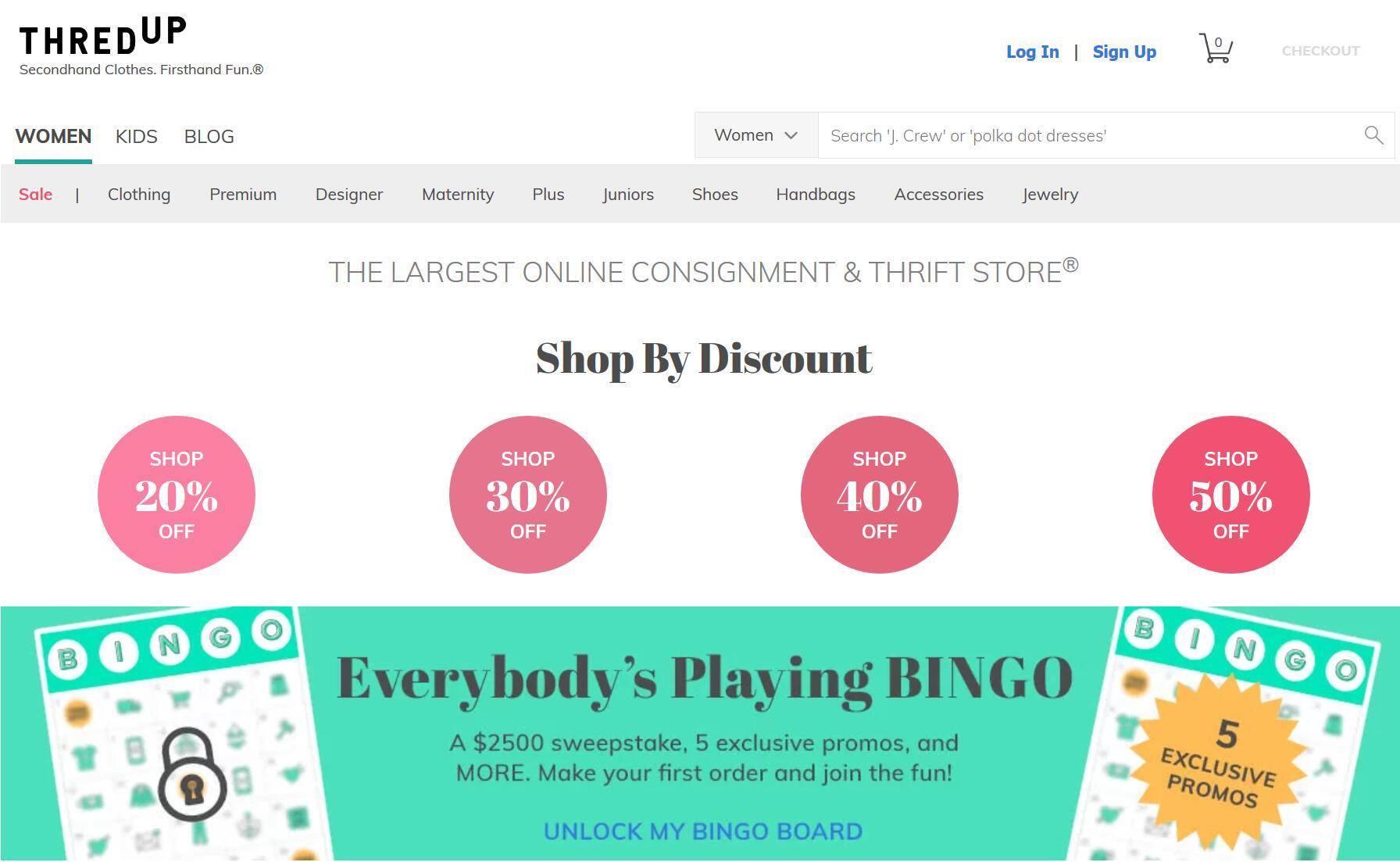 二手服装寄售电商 thredUP 融资1.75亿美元,与梅西百货等传统零售商达成合作