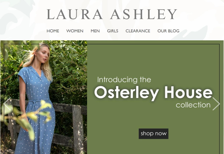 英国老牌时尚家居品牌 Laura Ashley 2019财年由盈转亏,将携手新的合作伙伴拓展中国市场