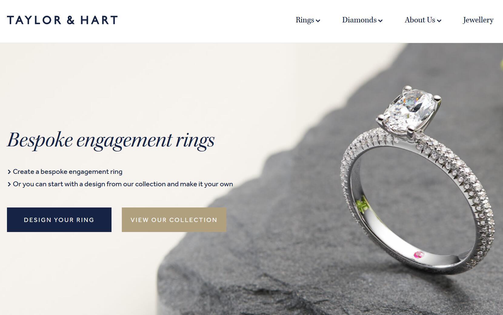 让顾客亲手设计自己的婚戒,英国高级珠宝零售商 Taylor & Hart融资360万英镑