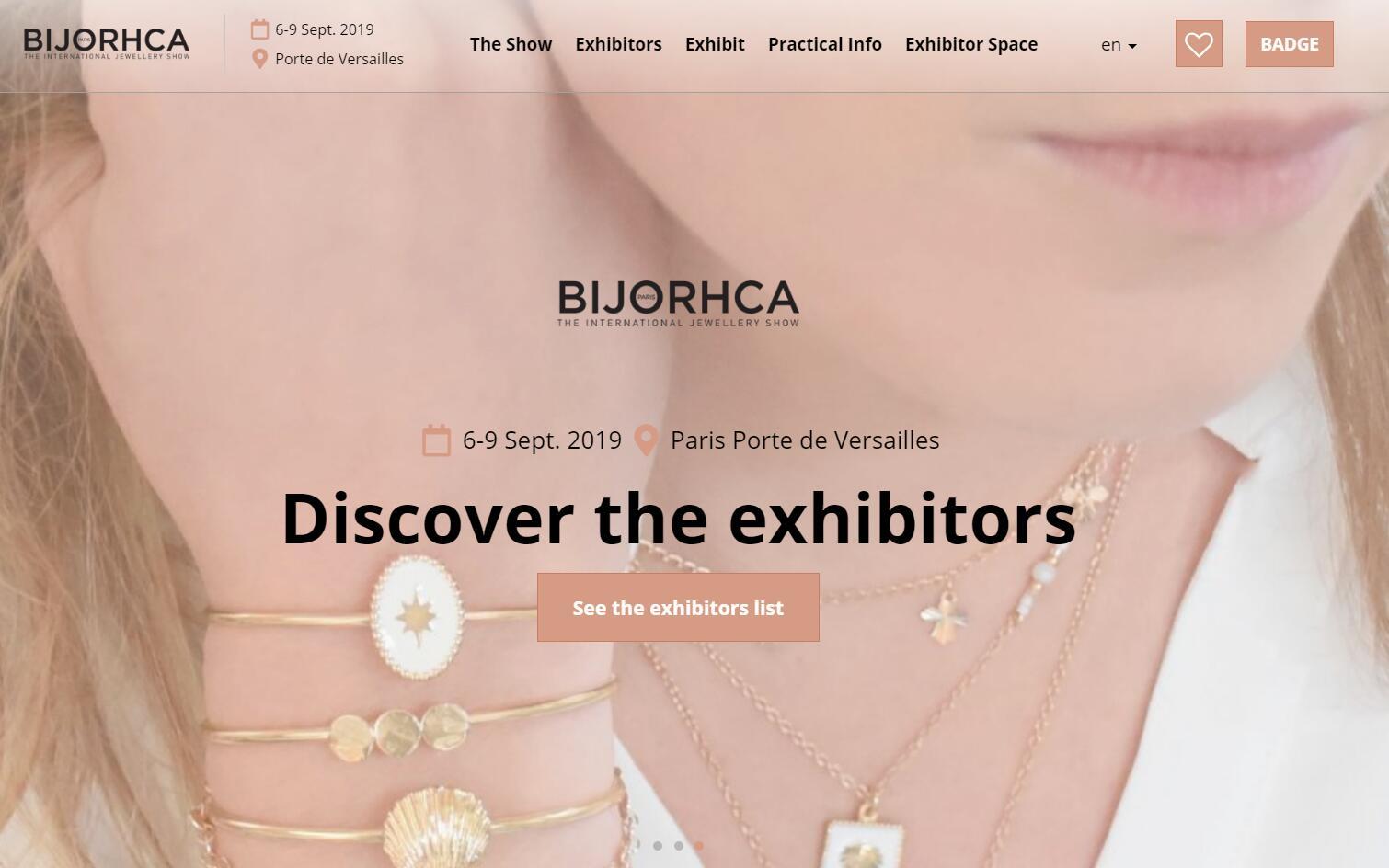 法国珠宝贸易展 Bijorhca 展区升级,将于9月6日开幕
