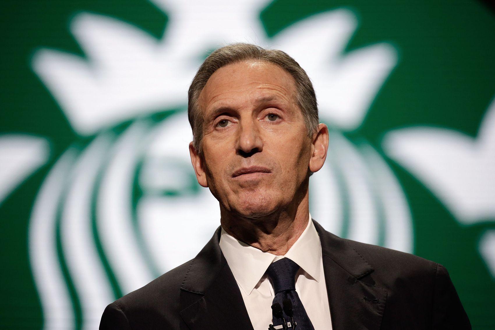 星巴克前CEO霍华德-舒尔茨宣布放弃竞选下届美国总统