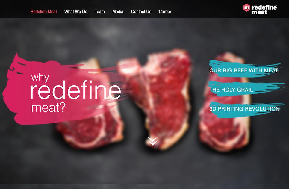 素肉3D打印技术初创公司 Redefine Meat 完成600万美元种子轮融资