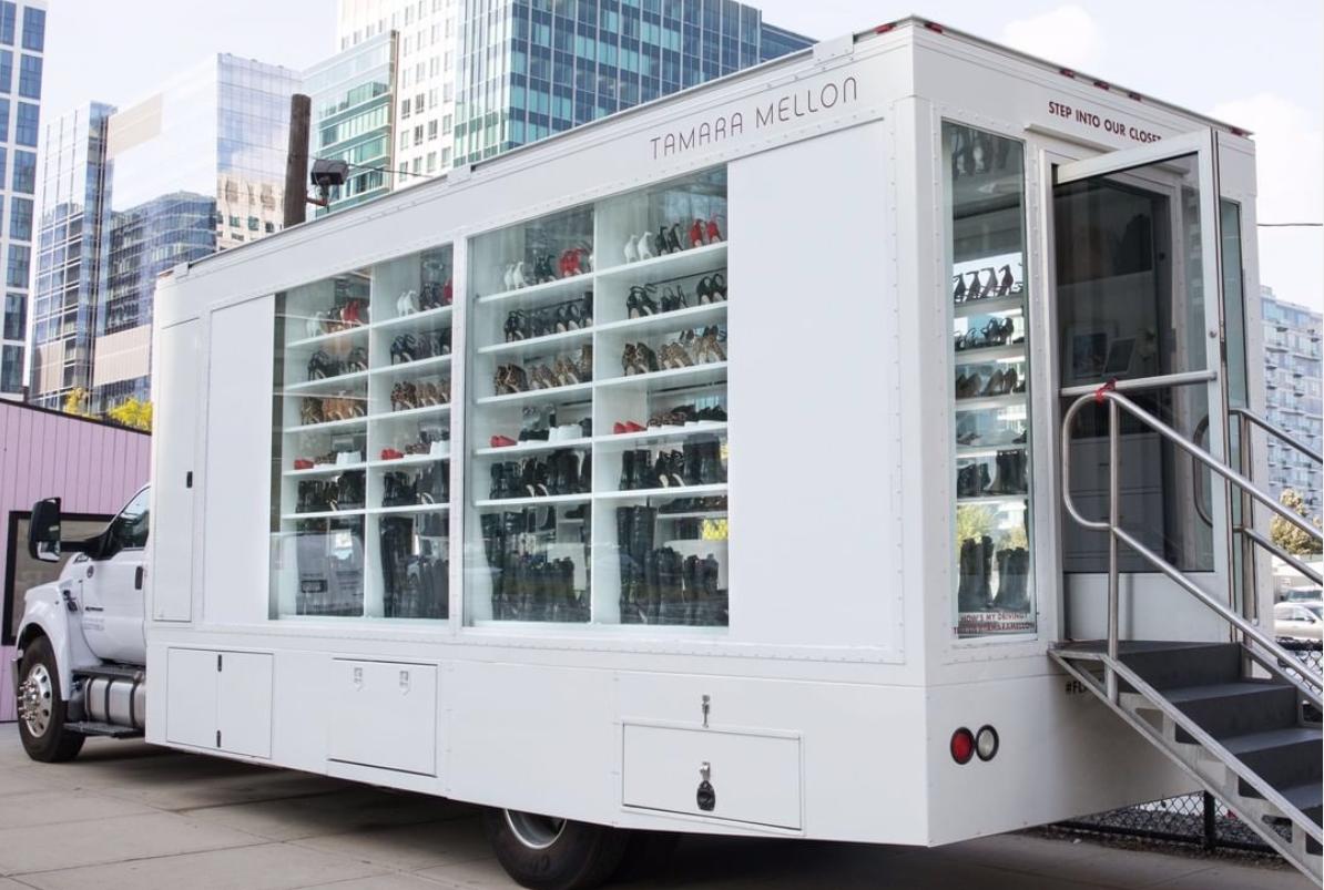 车轮上的奢侈品门店!Tamara Mellon 推出全新零售概念:流动鞋柜
