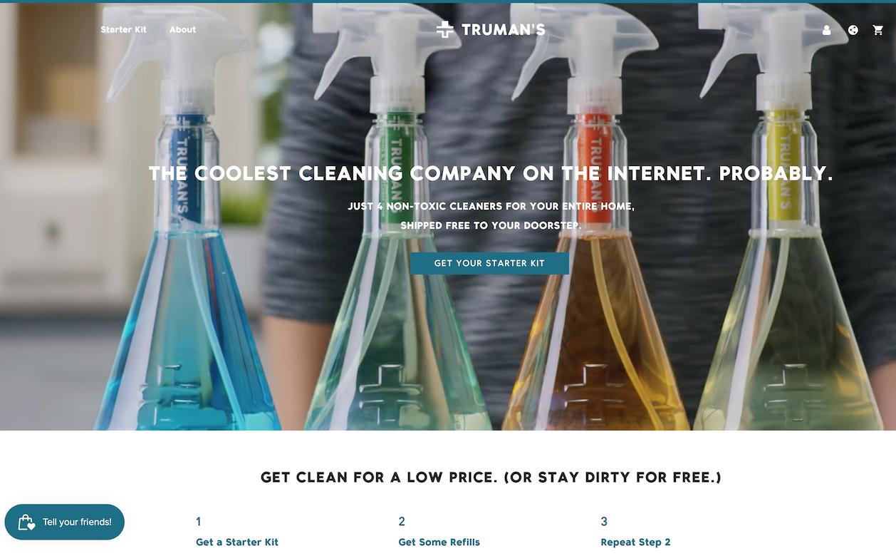 美国互联网清洁产品初创品牌Truman's 完成500万美元种子轮融资,汉高领投