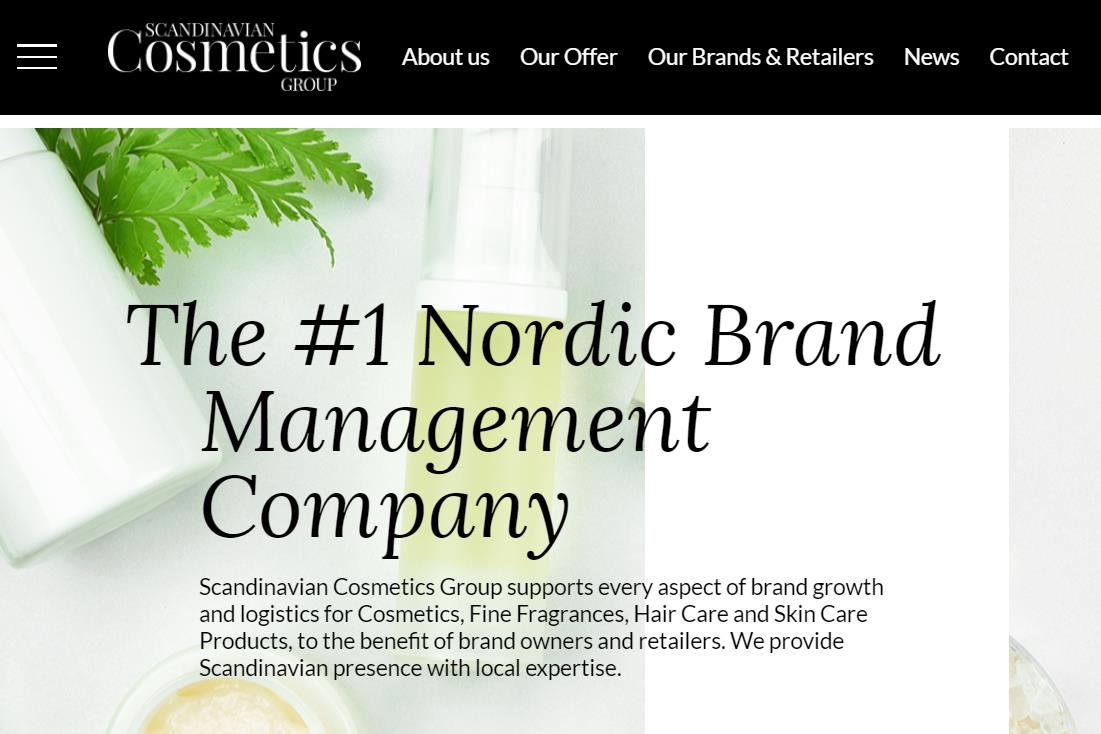 北欧最大的独立美妆产品分销商 Scandinavian Cosmetics Group 以6000万欧元被转售