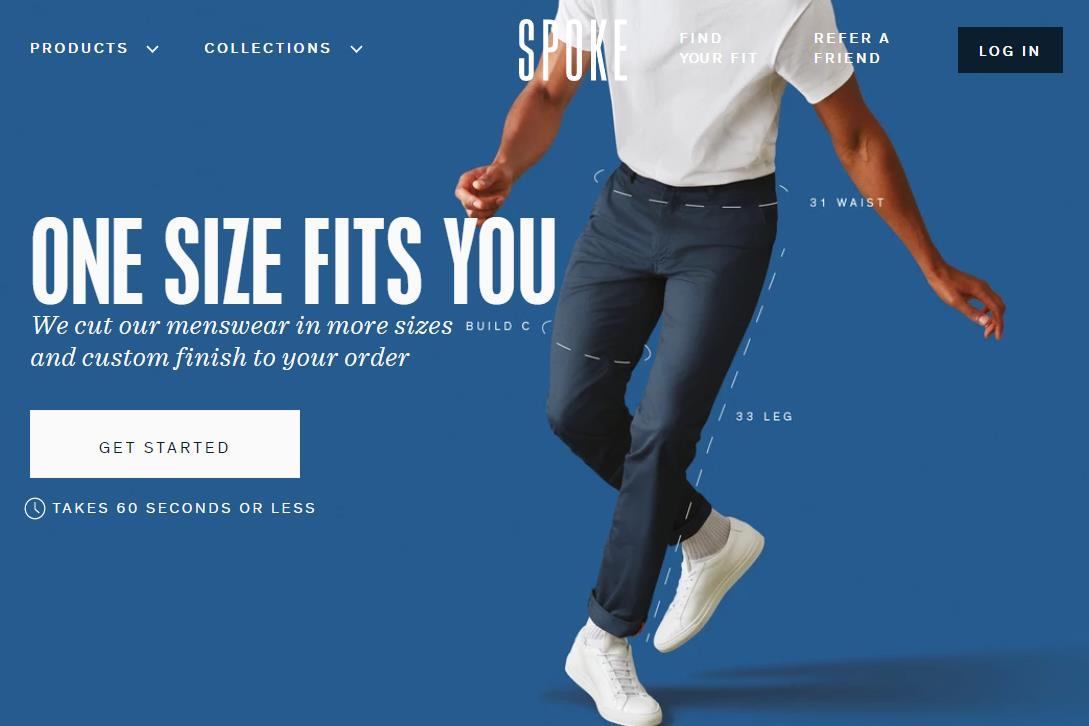 裤装尺码多达200余个,英国互联网男装定制品牌 SPOKE 完成 850万英镑 B轮融资