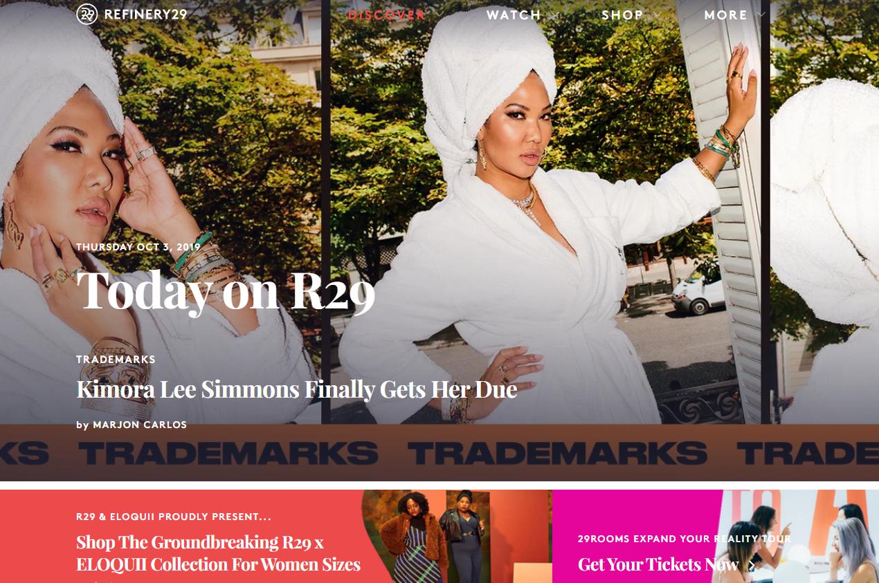 加拿大数字媒体集团 Vice 收购主打千禧代女性的线上媒体Refinery29