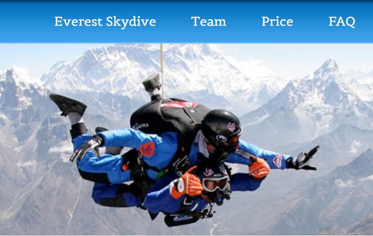 """去珠峰的""""捷径"""":美国旅游公司推出珠峰跳伞观光游"""